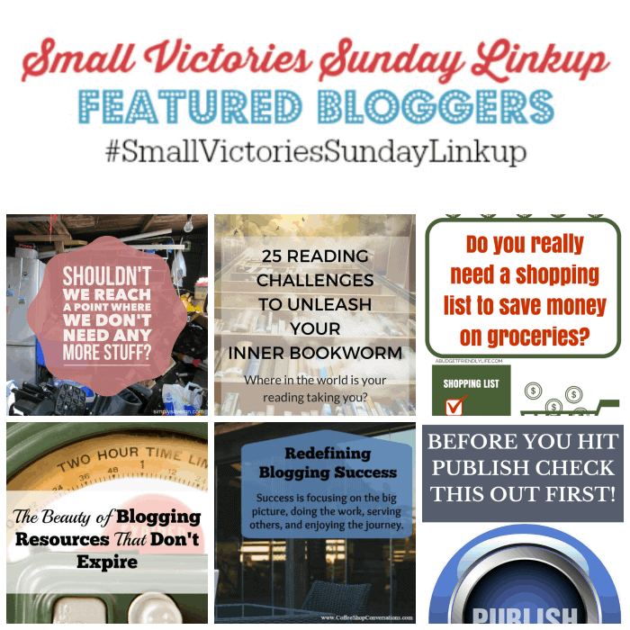Small Victories Sunday Linkup {91}