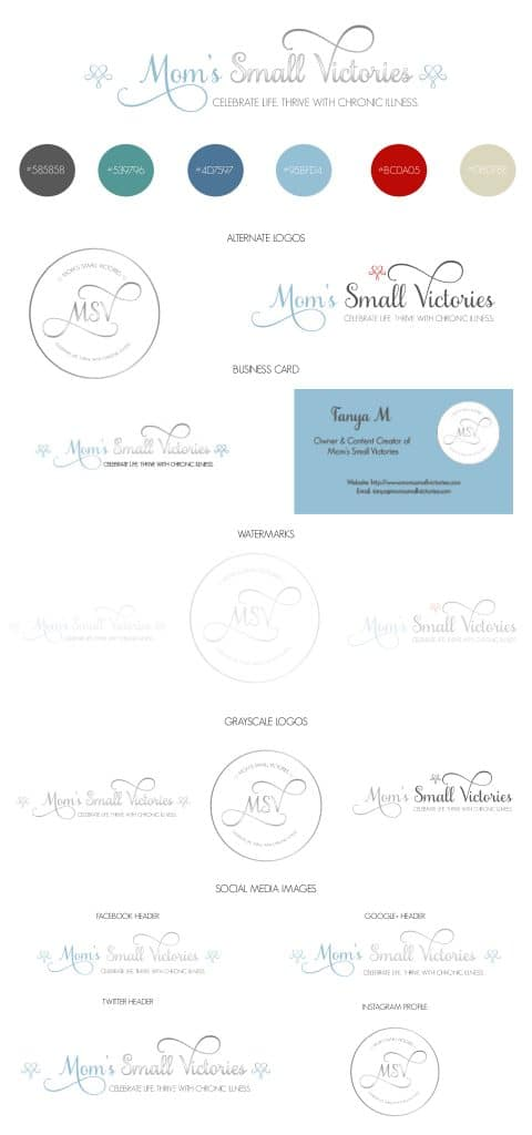 Mom's Small Victories Brand Guide designed by Jordan from J&J Social