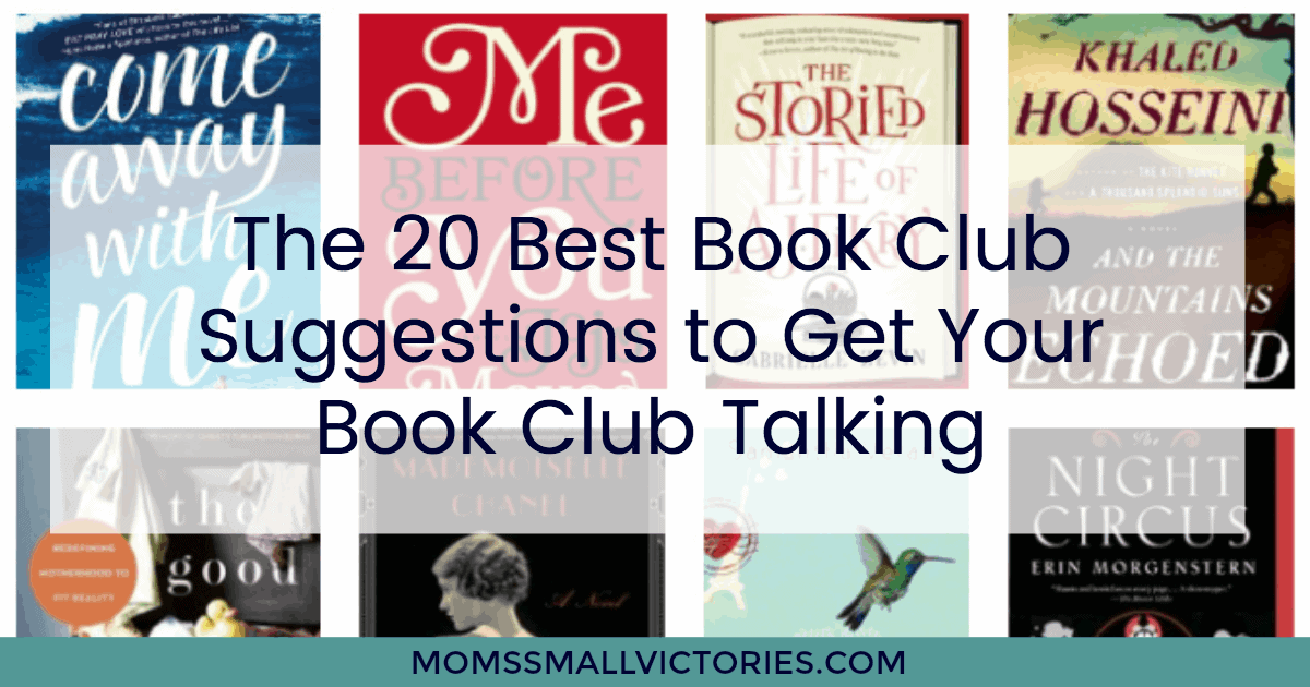 The 20 Best Book Club Suggestions to Get Your Book Club Talking. Recommendations, reviews and free printable discussion questions for your book club to use.