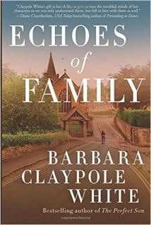 Echoes of Family by Barbara Claypole White shows with heart-breaking realism how mental illness impacts the patient, their family & the demons they fight.