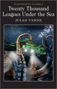 The classic 20,000 Leagues Under the Sea by Jules Verne chronicles the adventures of Captain Nemo and their trek through Atlantic and Antarctica and is one of the books on our Ultimate Winter Reading List.