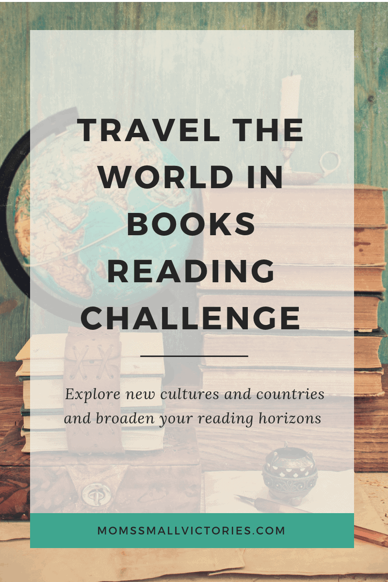 Travel the World in Books Reading Challenge. Explore new countries and cultures and broaden your reading horizons. It's my goal to read 50 books from different countries in 5 years. You choose your own travel adventure in this challenge, where will your travel around the world in books take you?