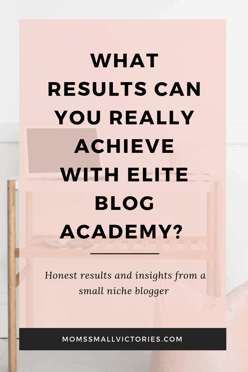 Elite Blog Academy is a comprehensive blogging course to start and build your blog into a thriving business. But what results can you really achieve with Elite Blog Academy when you're a small niche blogger? My honest results and insights about Elite Blog Academy.