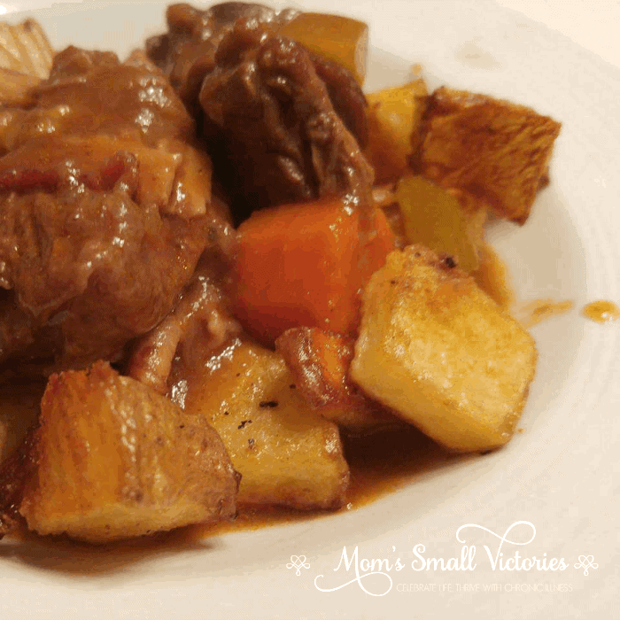 Guinness and Beef Stew with Rosemary Garlic Potatoes is a dairy, refined sugar AND gluten free recipe that will make your tastebuds sing!