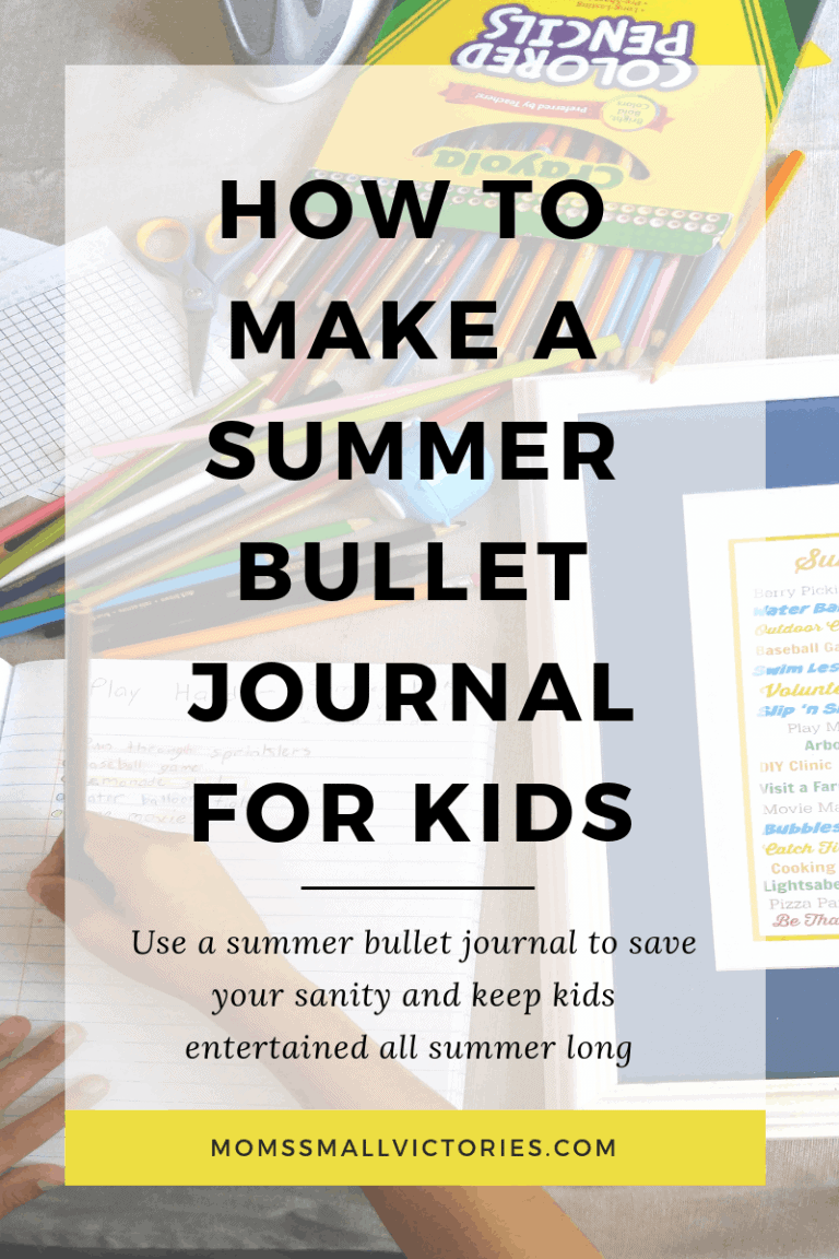 How a Summer Bullet Journal for Kids Saved My Sanity