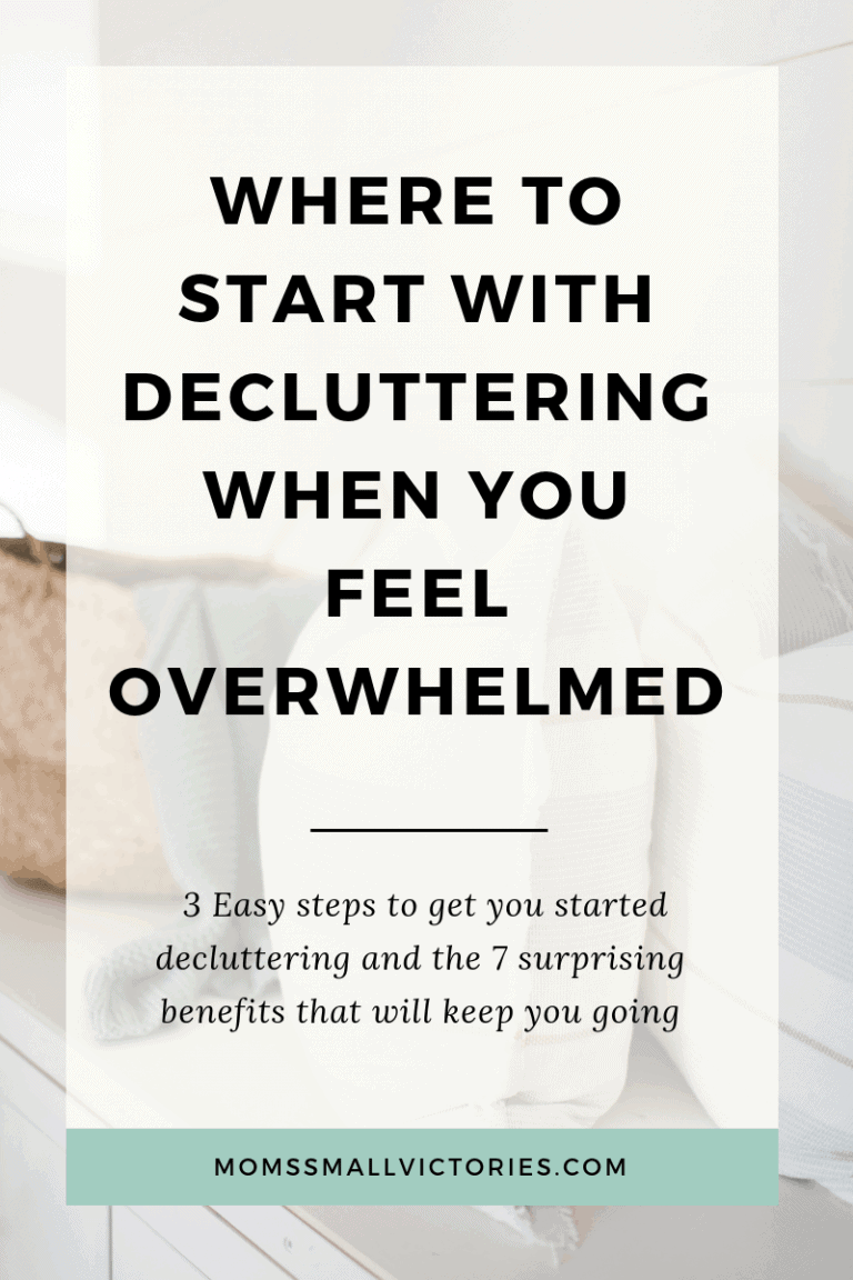 3 Easy steps to declutter your home and how to get started without feeling overwhelmed