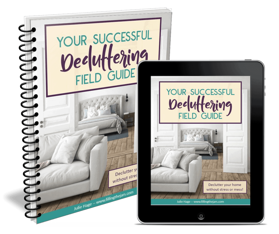 Your Successful Decluttering Guide will help you get started and get through the decluttering process without stress or mess. A valuable tool for those who are overwhelmed by decluttering before they even start.