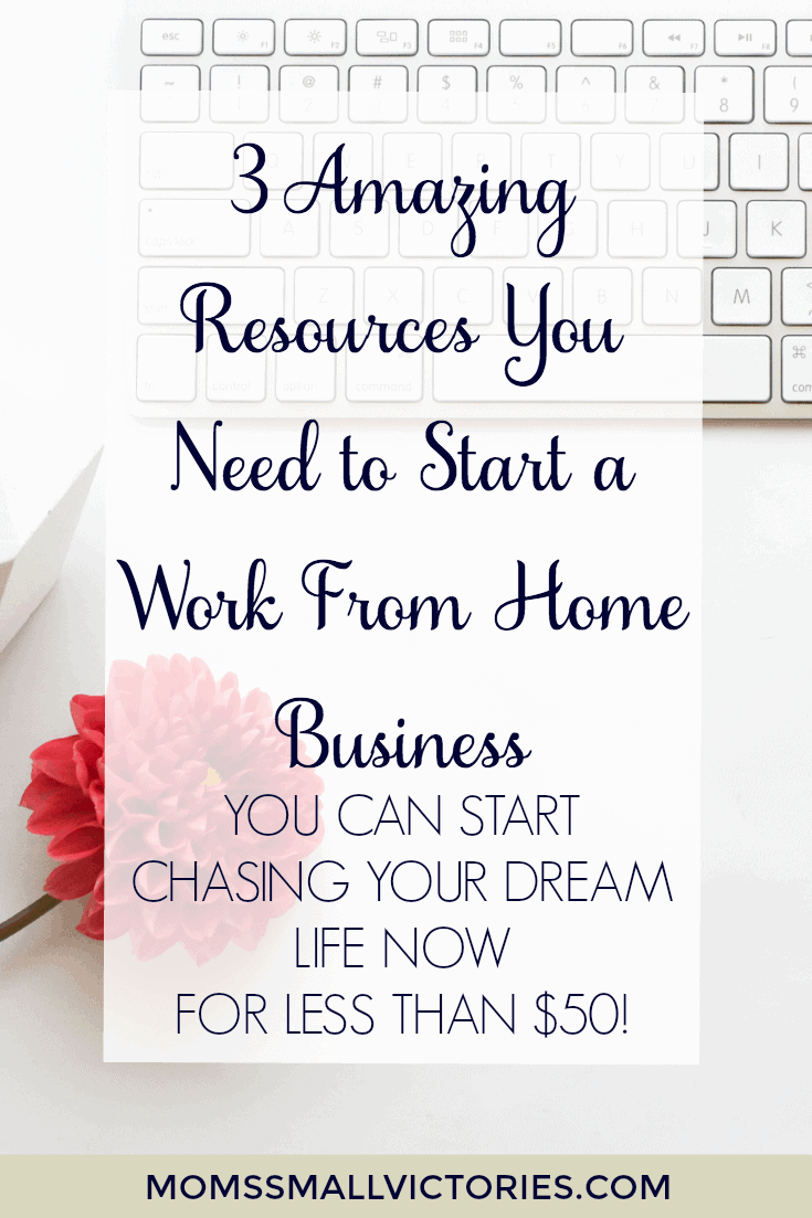 3 Amazing Resources You Need to Start a Work From Home Business. You can start chasing your dream life now for less than $50!