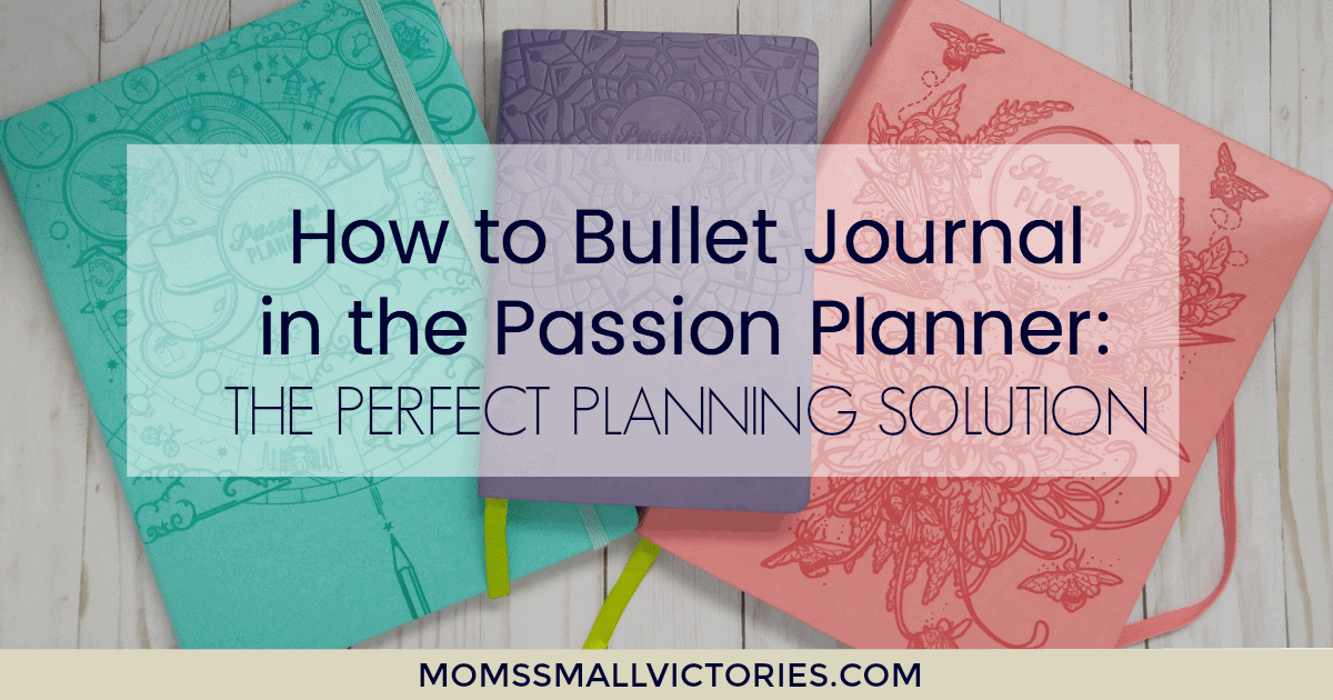 how to bullet journal in the passion planner