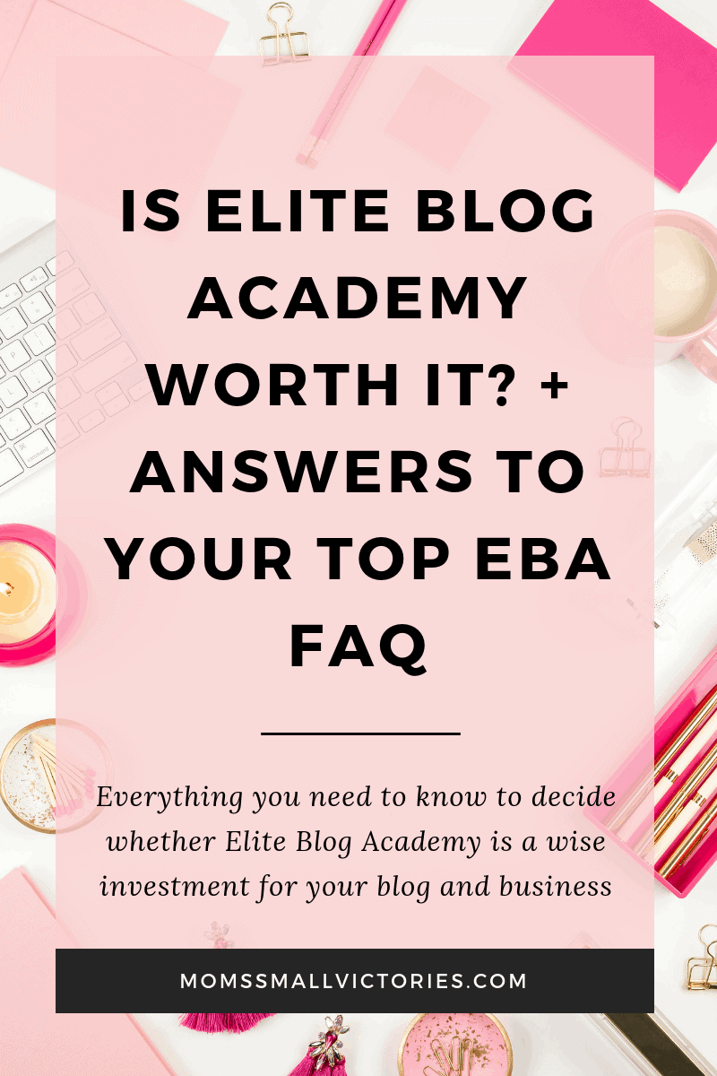 Is Elite Blog Academy worth it plus answers to your top Elite Blog Academy FAQ. Everything you need to know to decide whether Elite Blog Academy is a wise investment for your blog and business