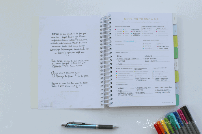 Powersheets review: Getting to Know Me is one of the Powersheets prep work pages that helps you identify what's important to you so you can cultivate your most important goals and get them done.