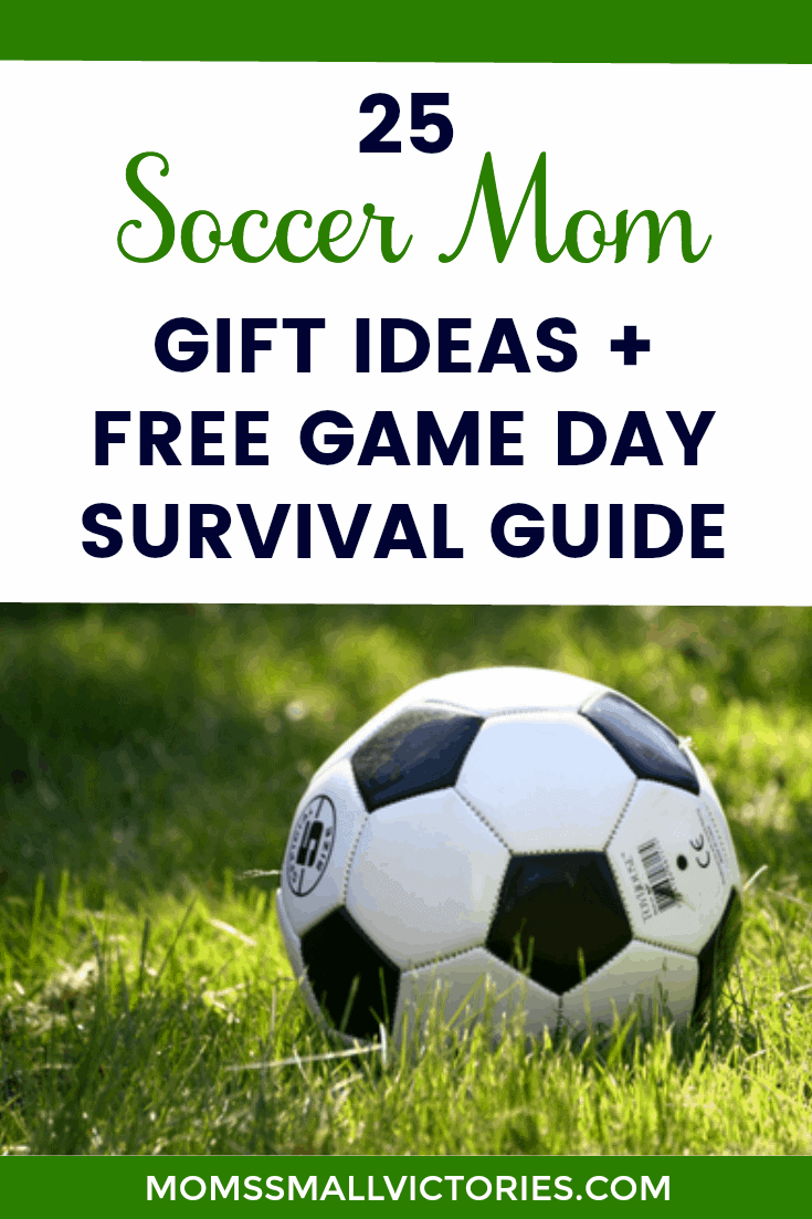 25 Soccer Mom Gift Ideas + FREE Getting Ready for Game Day Survival Checklist that will help you get your kids schedule, gear and food organized to maximize your fun on chaotic game days.