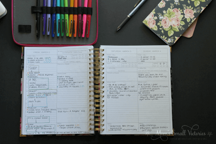 Color coding my time in the Purposeful Planner helps me see how well I'm doing with working towards my goals and achieving a work-life balance.