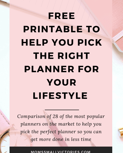 Ultimate Planner Comparison + FREE Comparison Chart [Updated for 2019-2020]