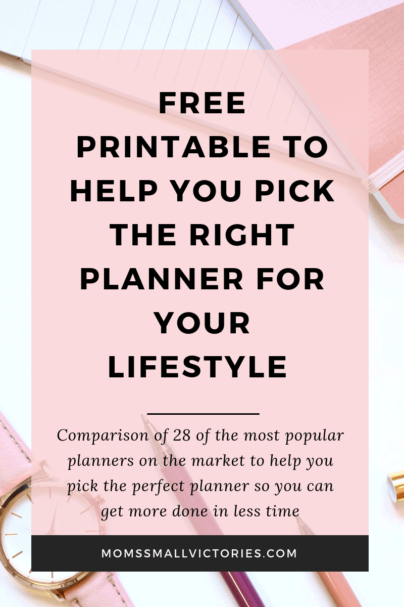 Download this free printable planner comparison chart to help you pick the perfect planner for your lifestyle and budget. Comparison includes reviews and details of 28 planners from 11 of the most popular planner companies on the market.