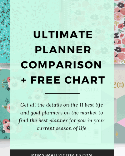 Ultimate Planner Comparison + Ultimate Planner Giveaway 2018