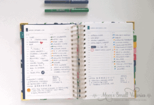 Simplified Planner Daily 2018-2019 Daily Page Color Coding Tasks