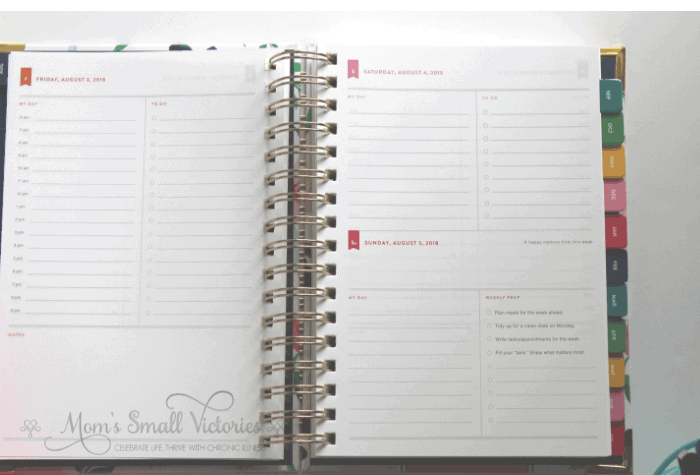 Simplified Planner Daily 2018-2019 Daily Page Layouts