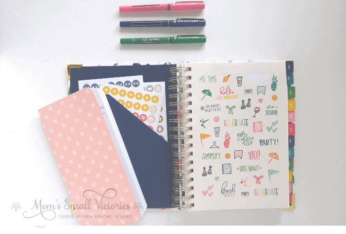 Simplified Planner Daily 208-2019 Inside Cover, Pocket and Stickers