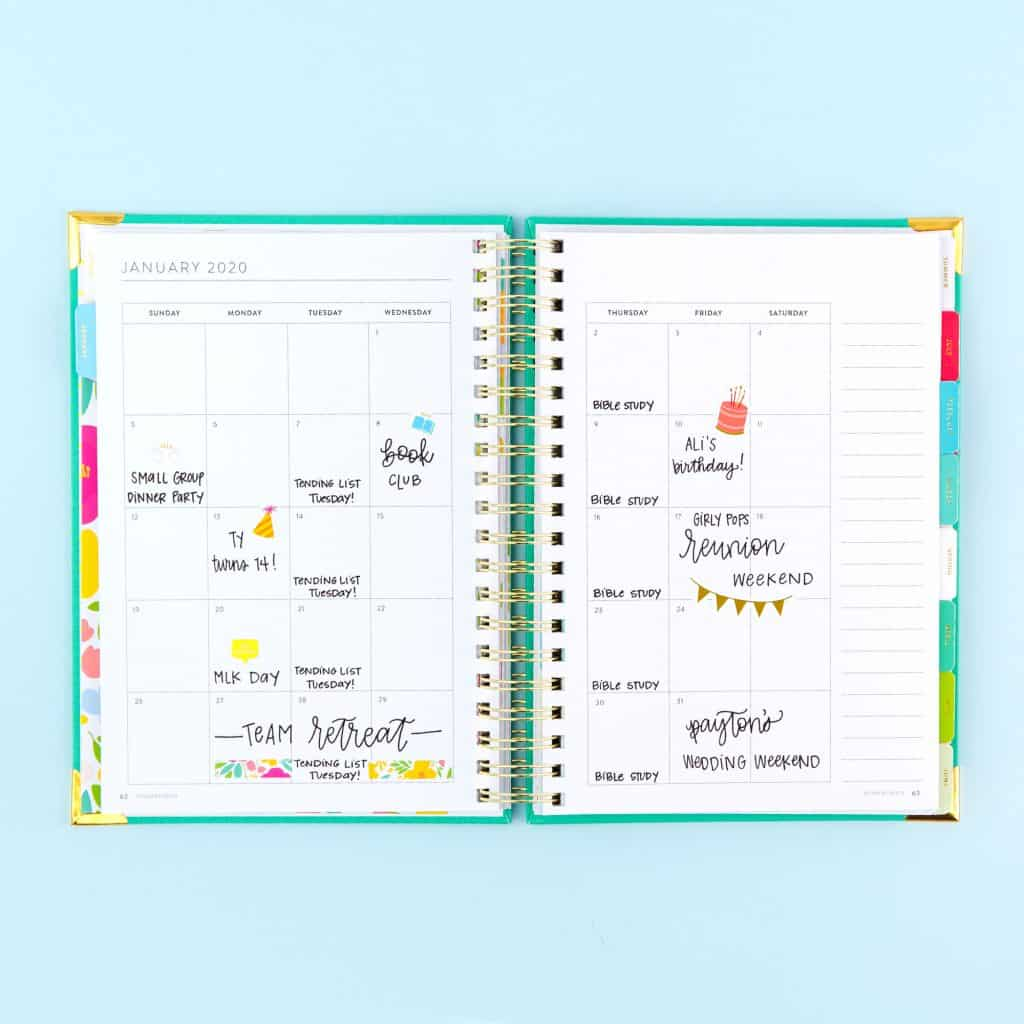 Powersheets 2020 monthly calendar