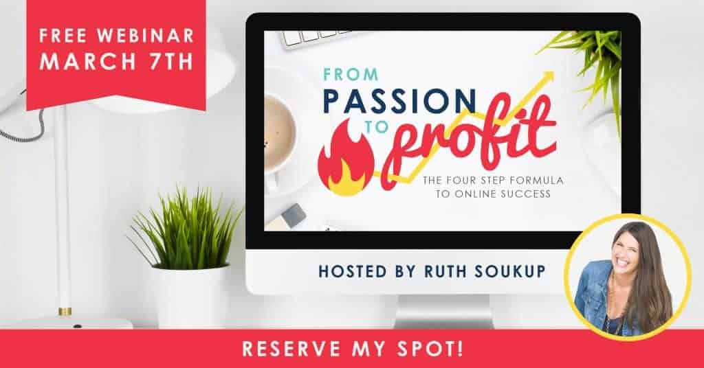 From Passion To Profit Webinar