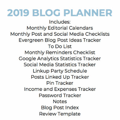 free 2019 blog planner you can download for use on Google Drive, with Microsoft Excel or print from a PDF so you have your blogging ideas and tasks at your fingertips when and where you need them.