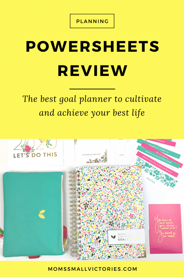 2020 Powersheets Review: The Best Goal Planner to Cultivate and Achieve Your Best Life