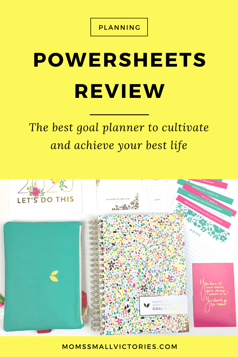 2020 Powersheets Review: the Powersheets intentional goal planner can help you find what's missing in your life and make more time for what matters to you. This is the best goal planner to help you cultivate and achieve your best life