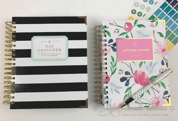 day designer vs simplified planner size and covers