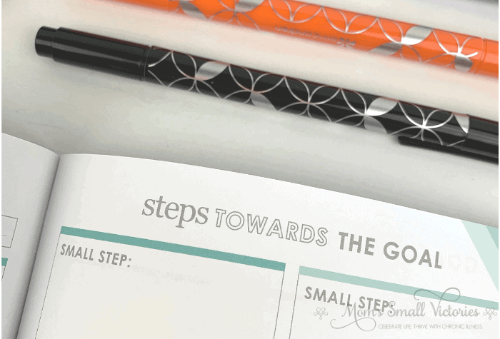 erin condren goal setting journal sneak peek at goal breakdown page