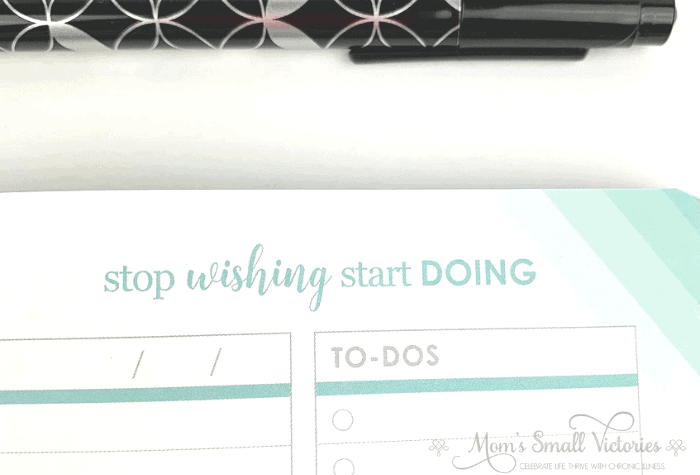 erin condren goal setting journal sneak peek at goal checkins page