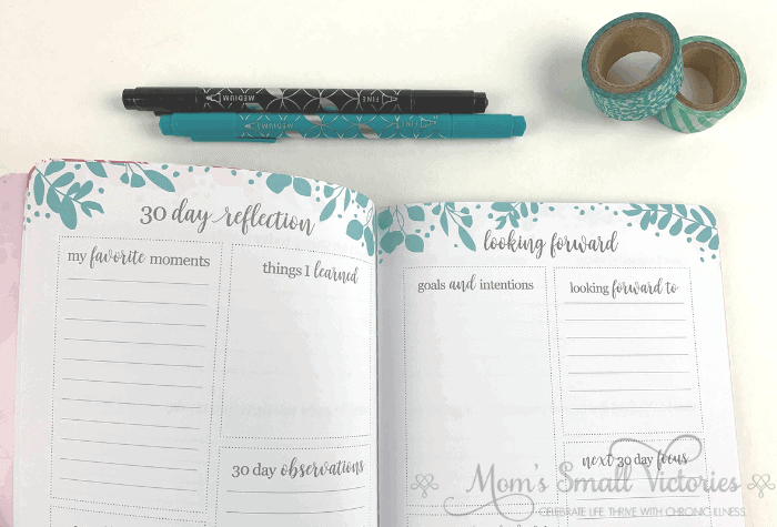 erin condren gratitude journal 30 day reflection page