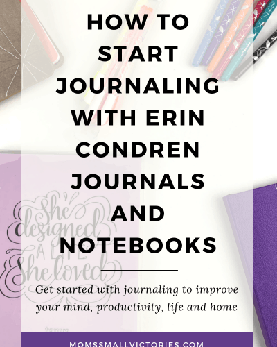 How to Start Journaling with Erin Condren Journals and Notebooks