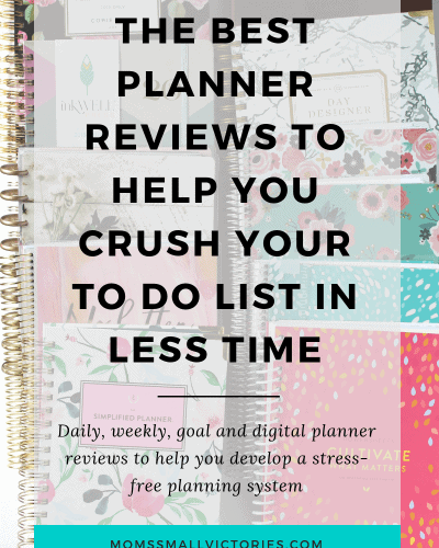 The Best Planner Reviews to Help You Get More Done in Less time. Simplified Planner by Emily ley planner review, Day Designer planner review, Purposeful Planner review, Passion Planner review, Plum Paper planner review and Powersheets goal planner review included. Daily planner reviews, weekly planner reviews, goal planner reviews and digital planner reviews so you can develop a planning and productivity system without the stress!