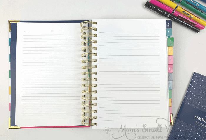 The Daily Simplified Planner Review. New this year are 4 lined notes pages in the front of the planner between the Prep Work and the August 2019 calendar.
