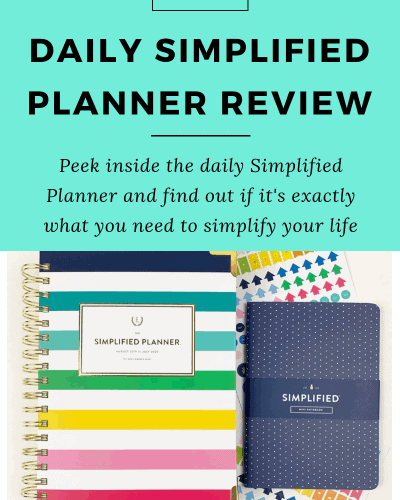 [Updated for 2019-2020]: Daily Simplified Planner Review: Clean and Colorful Planning to Simplify Your Home, Life and Mind