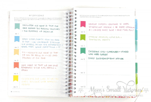powersheets goals using papermate inkjoy gel pens