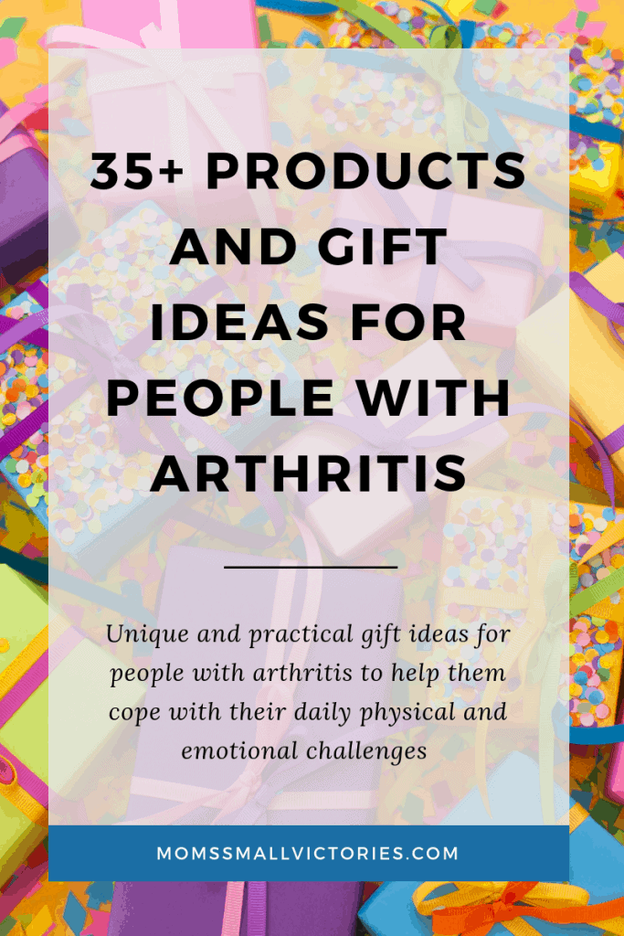 35+ products and gift ideas for people with arthritis to help them cope with the daily physical and emotional challenges. Includes 100's of gift ideas too for busy moms, work from home moms and soccer moms to get a perfect gift for moms with arthritis.