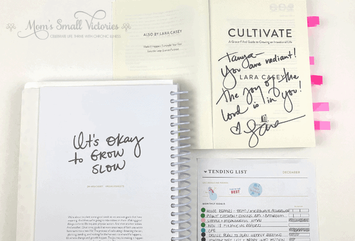 When I met Powersheets creator Lara Casey, I was able to thank her for the positive transformation Powersheets helped me accomplish. She is such an inspiration and motivator and signed a copy of her book Cultivate for me. It was a total fangirl moment meeting Lara and I can't wait until the next time.