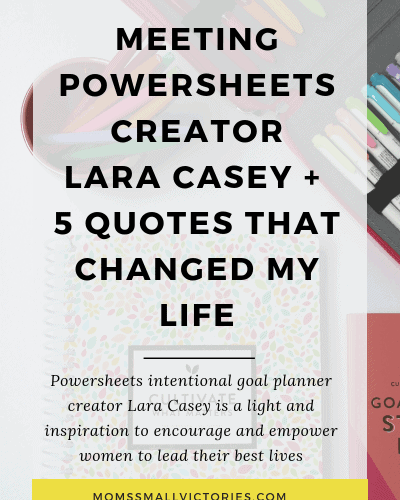 Powersheets with Lara Casey – Meeting in Real Life + Exciting News