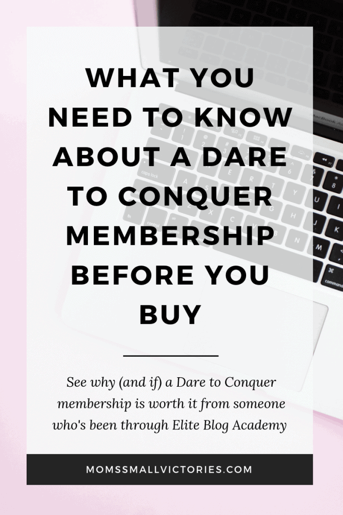 Dare to Conquer (formerly Billionaire Blog Club) changed from a blogging course to a blogging membership. See why (and if) that's good news in this honest Dare to Conquer Membership Review.