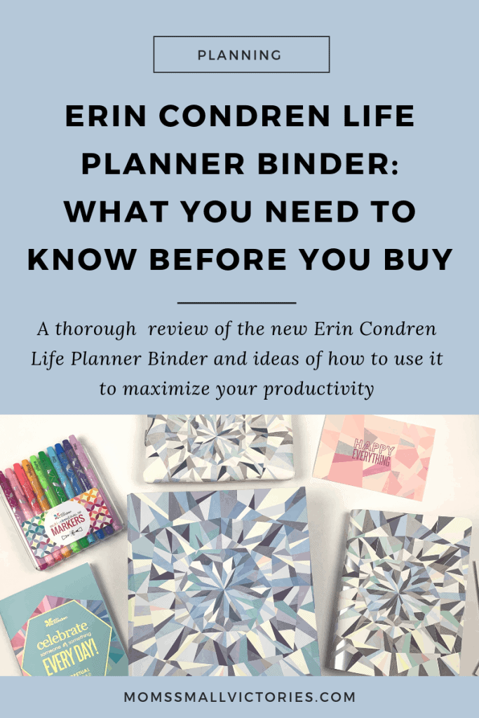 Erin Condren Life Planner Binder: What You Need to Know Before You Buy. A thorough review of the Erin Condren Life Planner Binder and ideas for how to use it to maximize your productivity and get more done in less time.  #erincondren #plannerreview #productivity