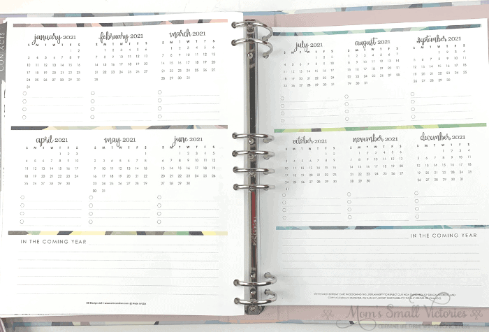 The year ahead page for future planning in the Erin Condren Life Planner Binder neutral color scheme.