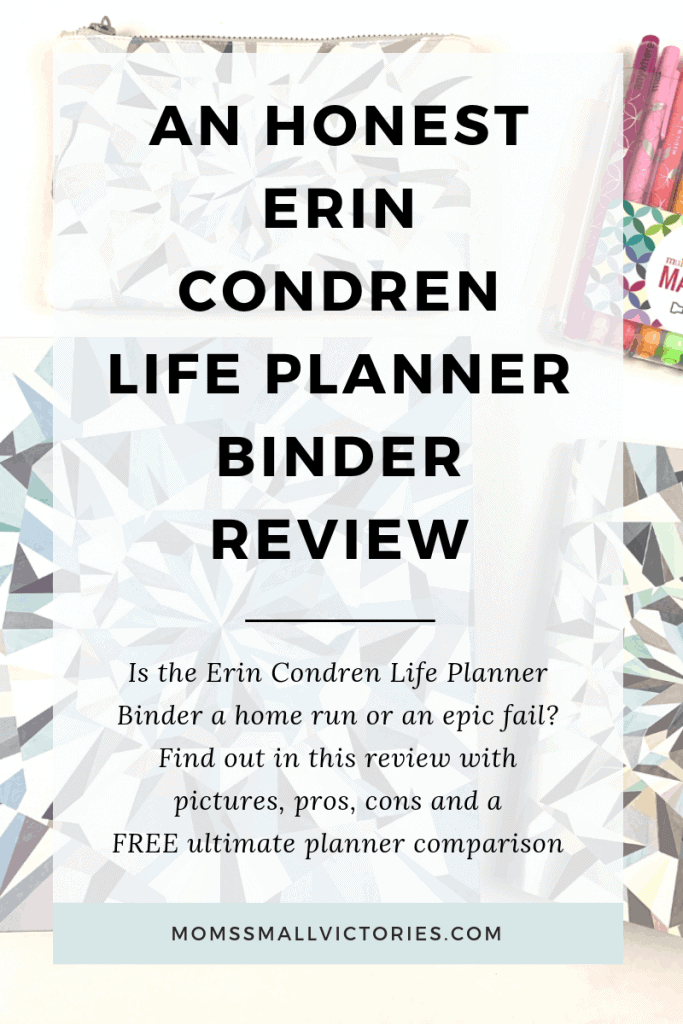 An Honest Erin Condren Life Planner Binder Review. Is the Erin Condren Life Planner Binder a home run or an epic fail? Find out in this review with pictures, pros, cons and a FREE ultimate planner comparison. #planner #plannerreview #erincondren #plannercomparison