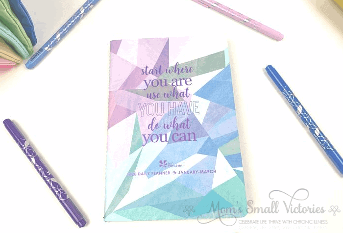 the Erin Condren Daily Petite Planner volume 1 contains daily planning pages for Jan to Mar 2020.