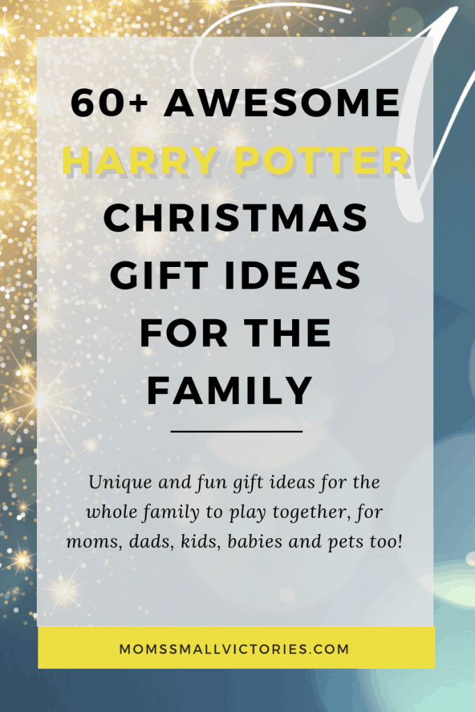 60+ Awesome Harry Potter Christmas Gift Ideas for the whole family and your pets too! Clever and fun Harry Potter Gift Ideas for Him and Her, cool Harry Potter Christmas Gift Ideas for Teens, fun Harry Potter games for the whole family to play together, fun toys and costumes for the kids, adorable Harry Potter Christmas gift ideas for babies and even gift ideas for your pets! We've got the entire family covered with gift ideas that are sure to bring magic and joy to them on Christmas morning! #christmas #harrypotter #giftideas