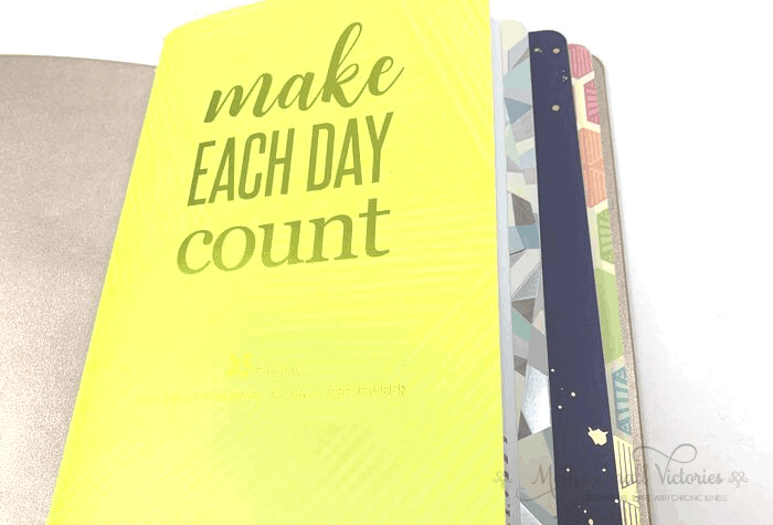 Erin Condren Daily Planner Review. The current quarter's daily planner is the first notebook inside my Erin Condren On the Go Folio.