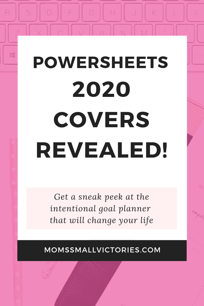 Powersheets 2020 covers revealed. Get a sneak peek at the 4 beautiful covers to choose from for the Powersheets intentional goal planner that will change your life in 2020