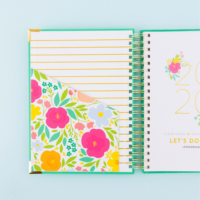 2020 Powersheets teal cover blooms pocket