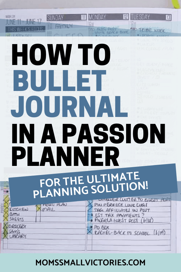 How to Bullet Journal in a Passion Planner for the ultimate planning solution. With premade layouts dedicated to following your goals and passions, weekly spreads to balance your home and work life and manage your schedule, and plenty of notes pages in the back for your bullet journal collections and lists, the Passion Planner is one of the best planners for bullet journaling #passionplanner #bulletjournal #bulletjournalideas
